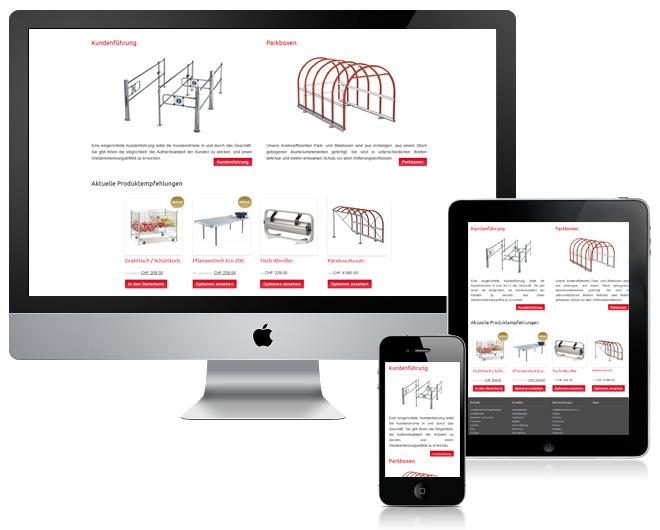responsive design website und online shop